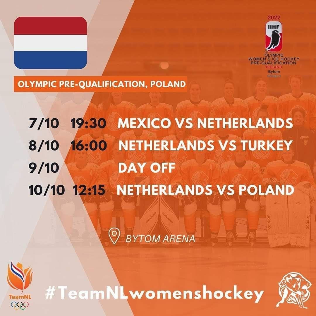 Morgen begint @teamnlwomenshockey aan het OKT in…