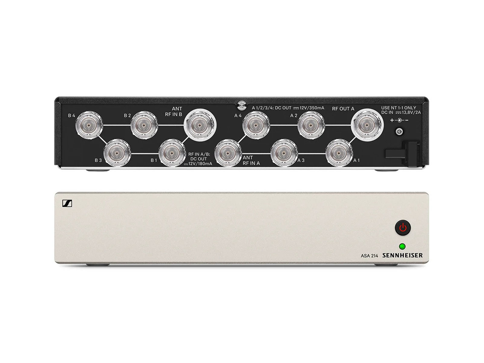 Sennheiser ASA 214-1G8 | Aktiver Antennen-Splitter ew G3 / ew G4,