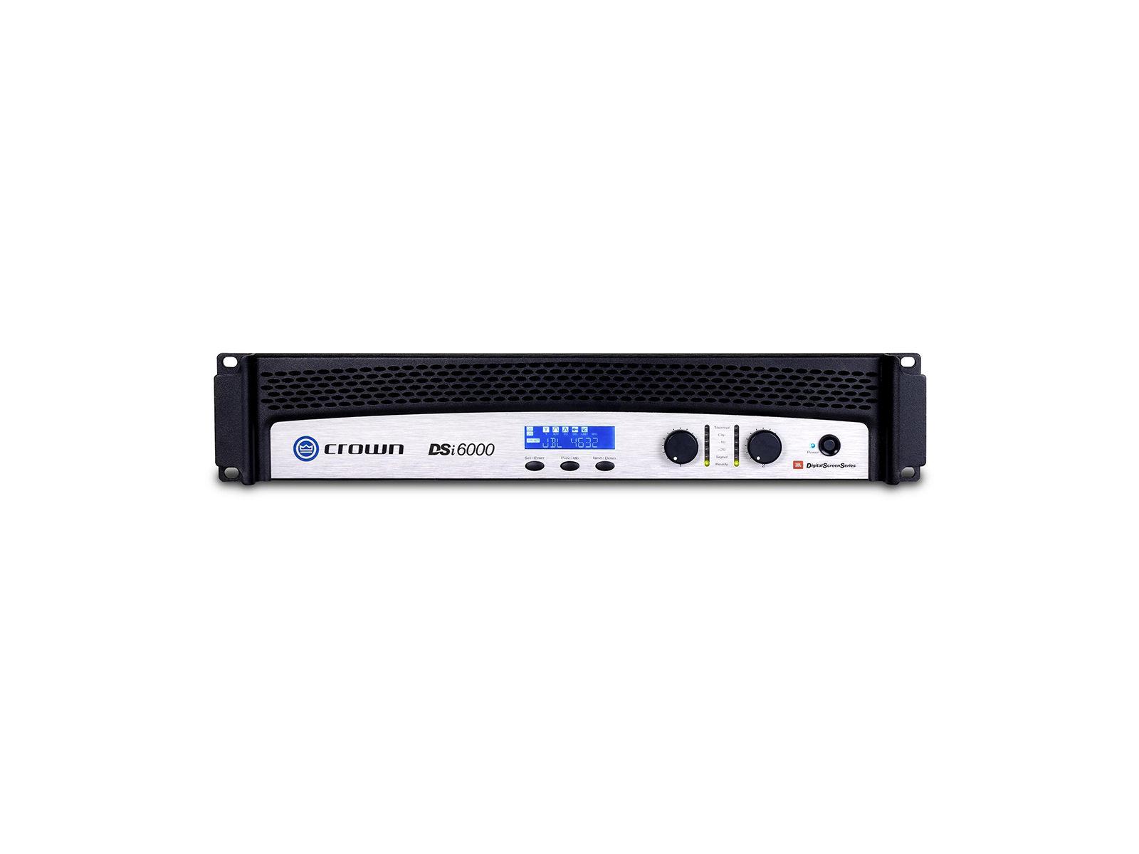 Crown DSi 6000 | Endstufe, 2x 2100W/4Ω, DSP, LCD, HiQnet, Phoenix, D-Sub, Cinema (THX approved)