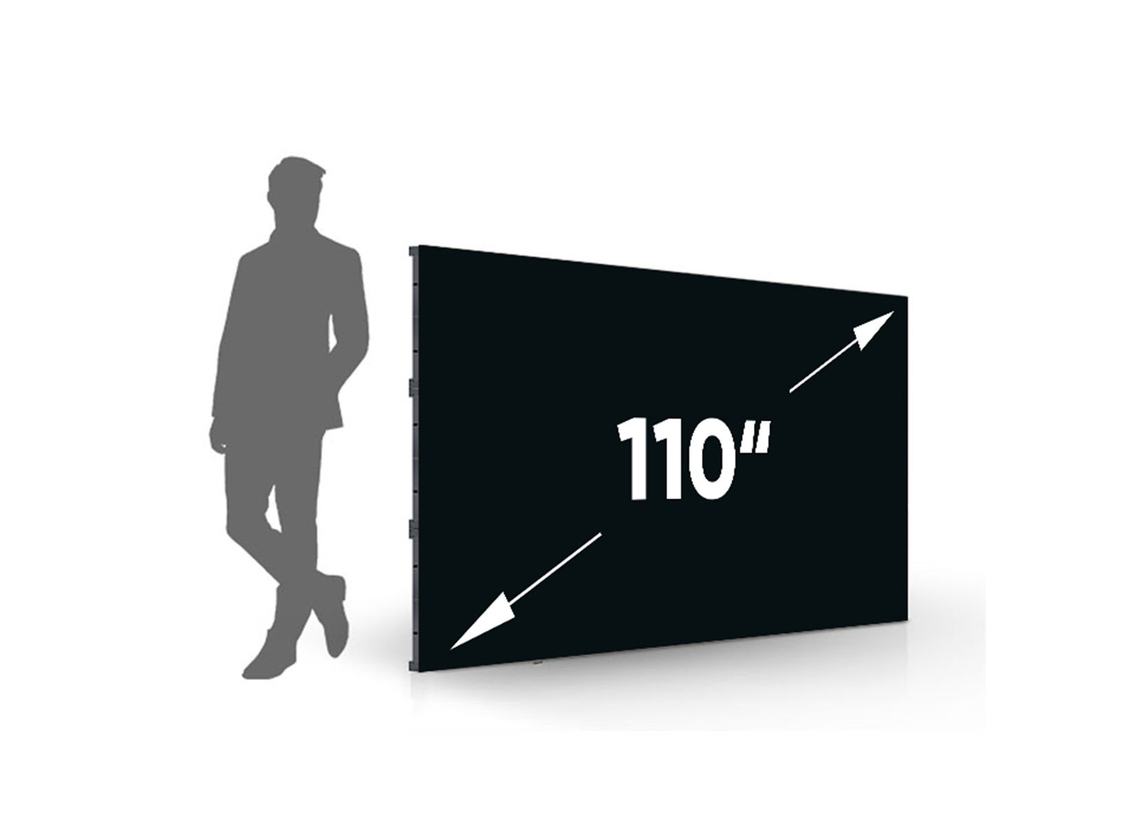 "Unilumin Upanel 1.2 S | LED FullHD Wand 110"" mit 1.2mm Pixelabstand"