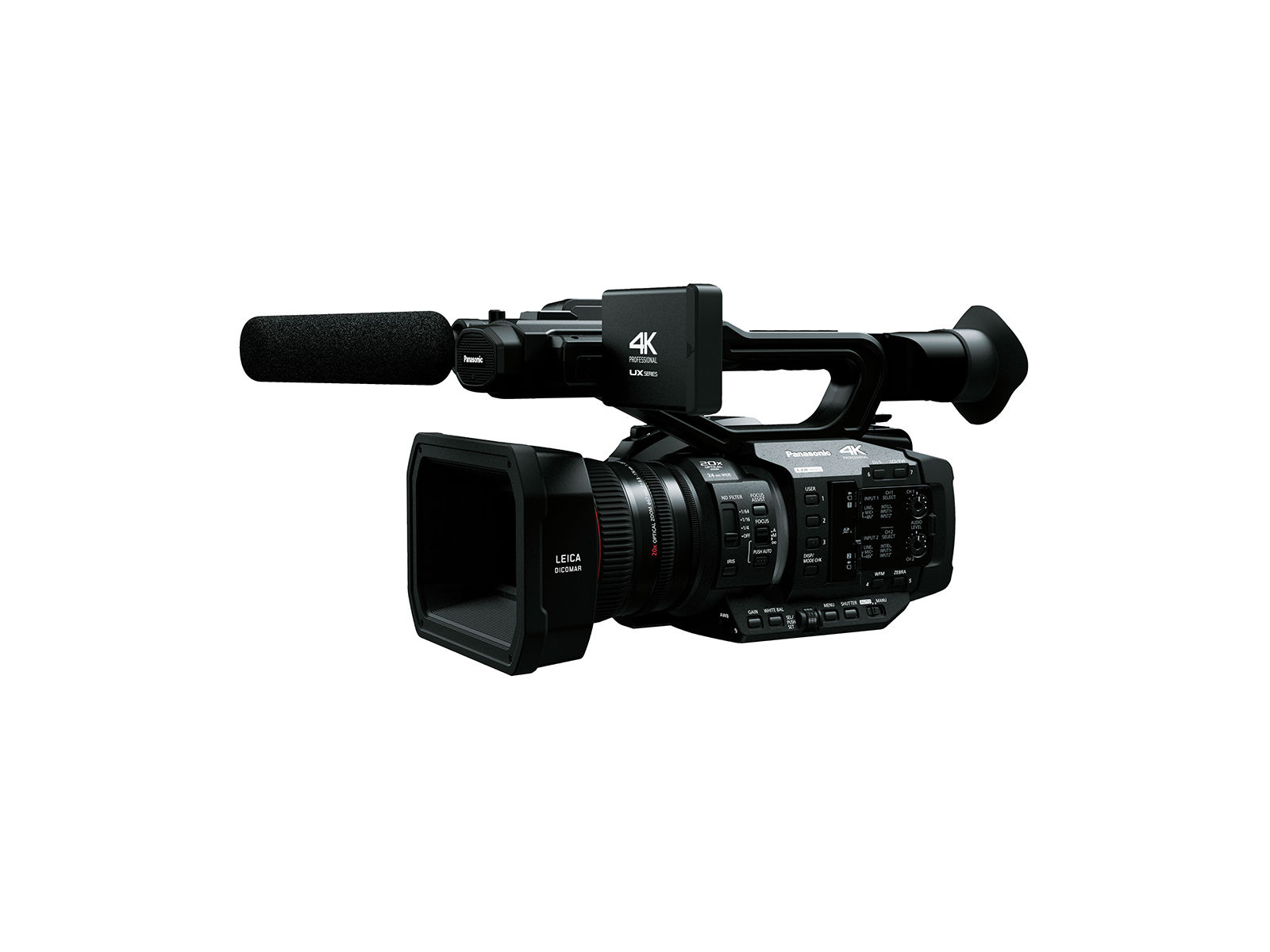 Panasonic AG-UX180EJ8 | 4K Camcorder mit integriertem 20x Objektiv, 24mm Weitwinkel Zoom Objektiv