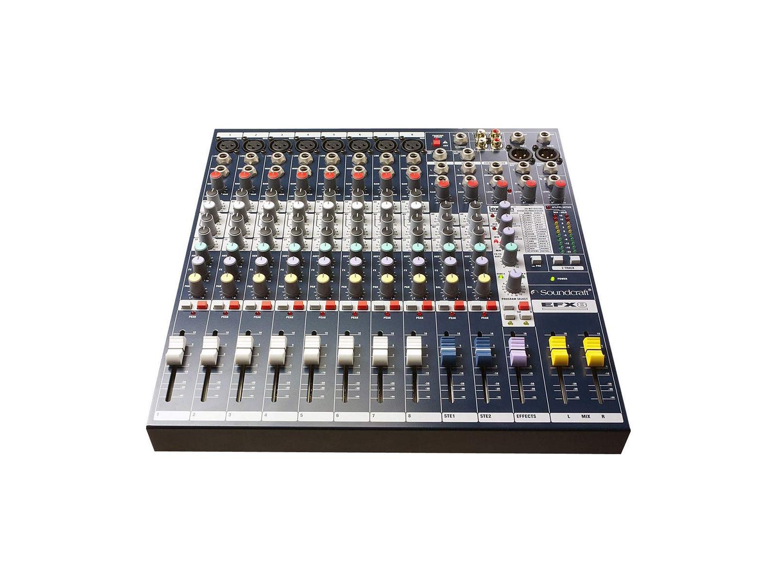 Soundcraft EFX8 | EFX8, 8+2/2 Kompaktmischer, FX, 19'' Option,