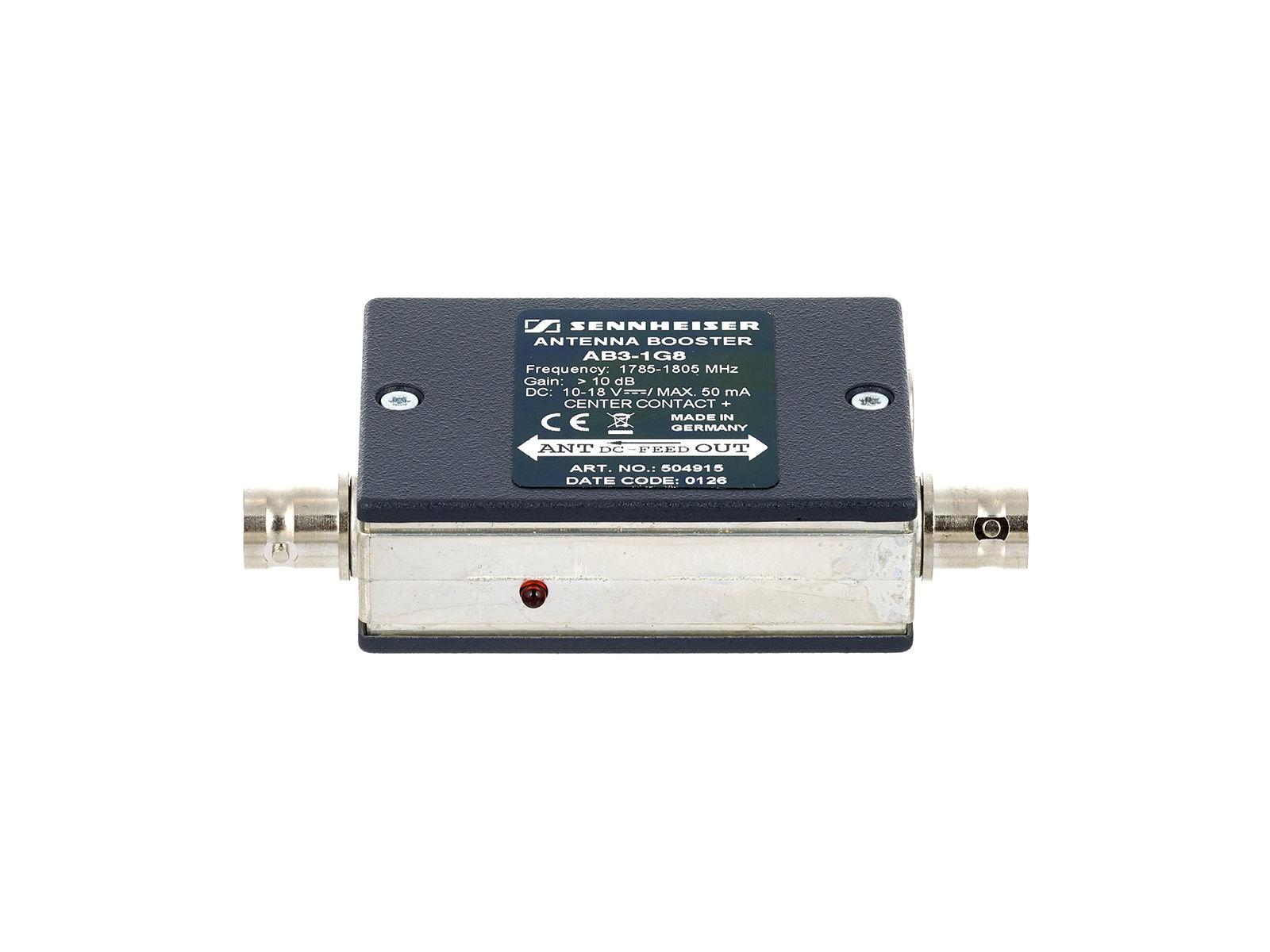 Sennheiser AB 3-1G8 | Antennenbooster, 10dB Verstärkung, 1785 - 1800 MHz,