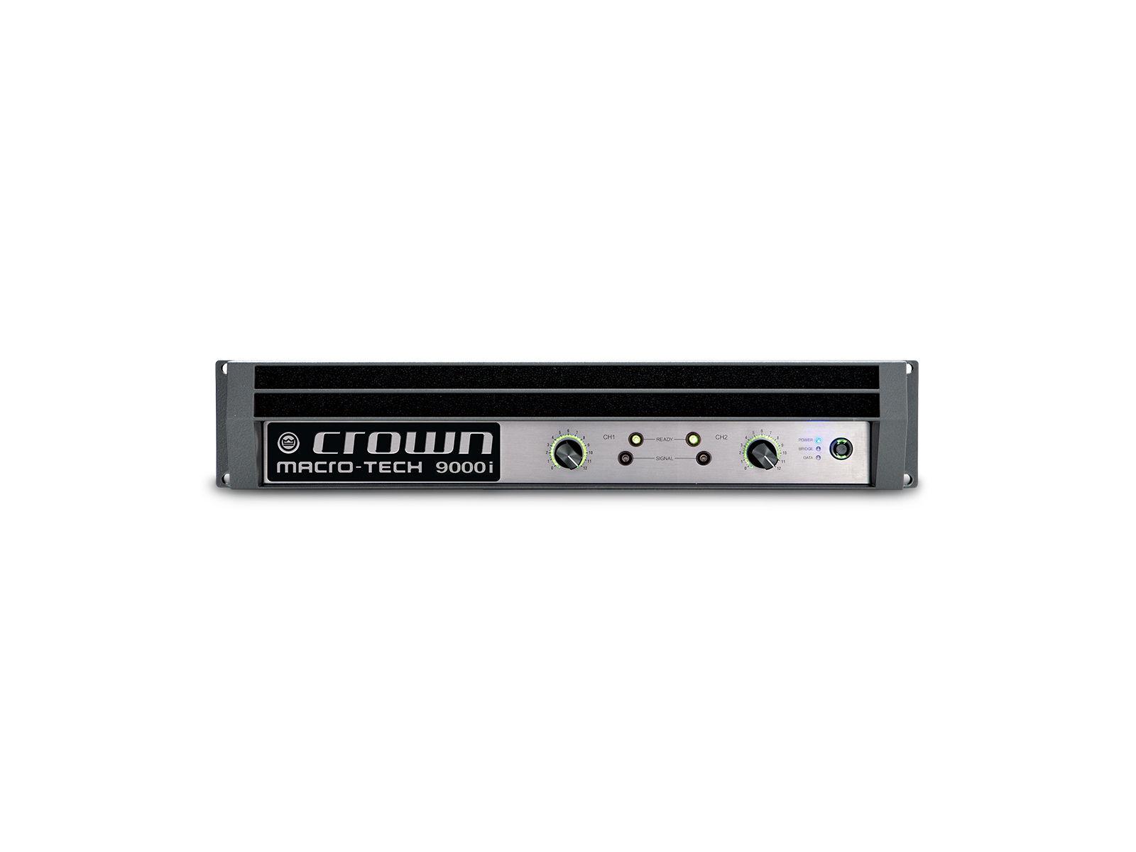 Crown MacroTech 9000i | Endstufe, 2x 3500W/4Ω, DSP, HiQnet, XLR, Speakon, BindingPost, LAN, Tour Sound