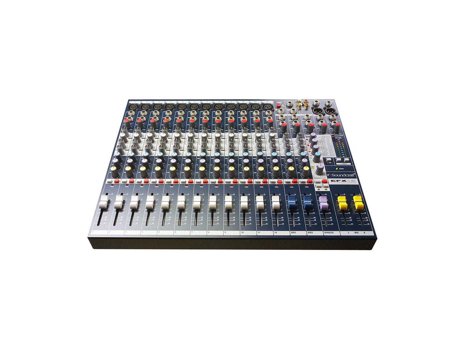 Soundcraft EFX12 | EFX12, 12+2/2 Kompaktmischer, FX, 19'',