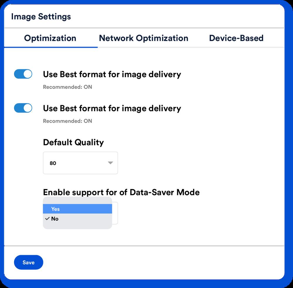 Data-saver support
