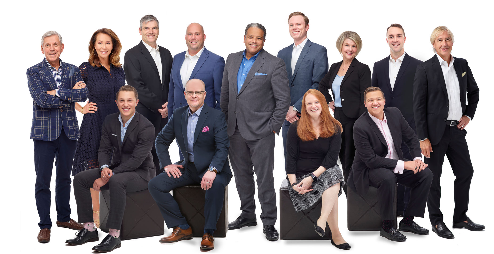 Hohimer Wealth Management Team Photo - Group Standing Together, David Hohimer in center surrounded by his team of Wealth Management professionals and staff.