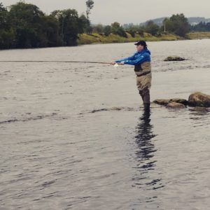 Casting in the River Dee, Scotland