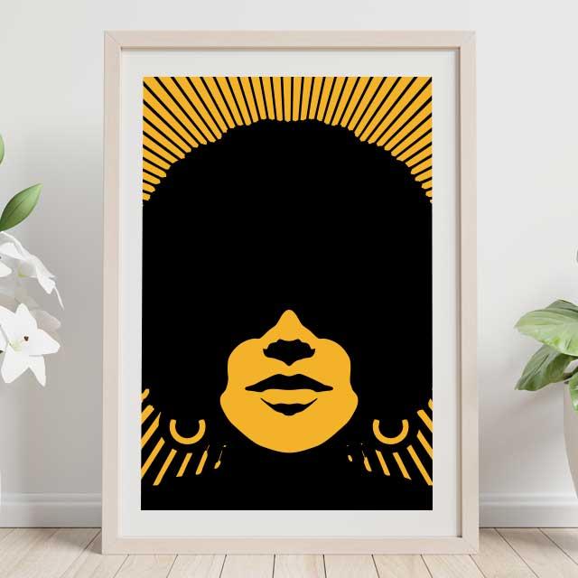 Mujer Afro retro