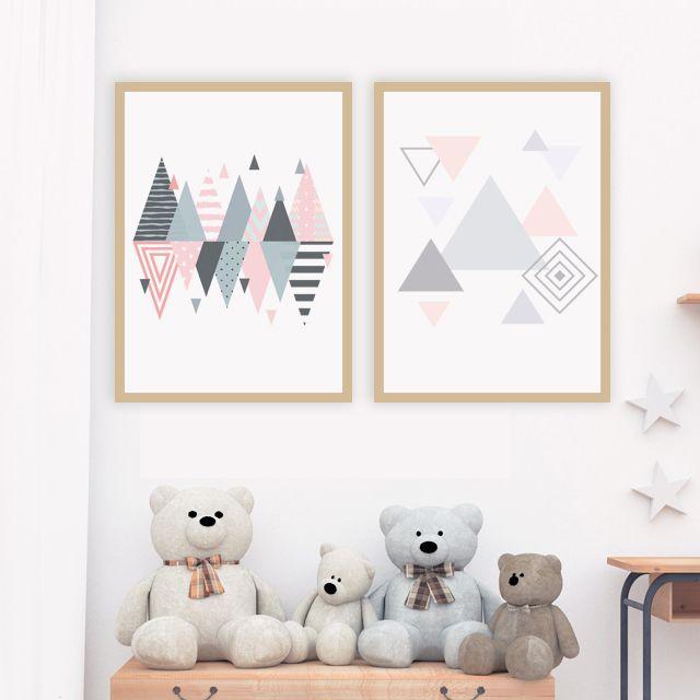 Triángulos pasteles