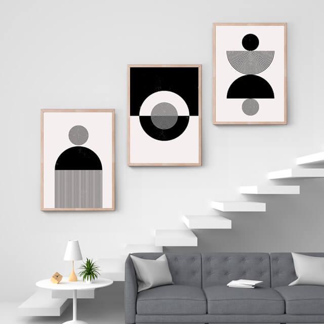 Abstract Circle Black & White