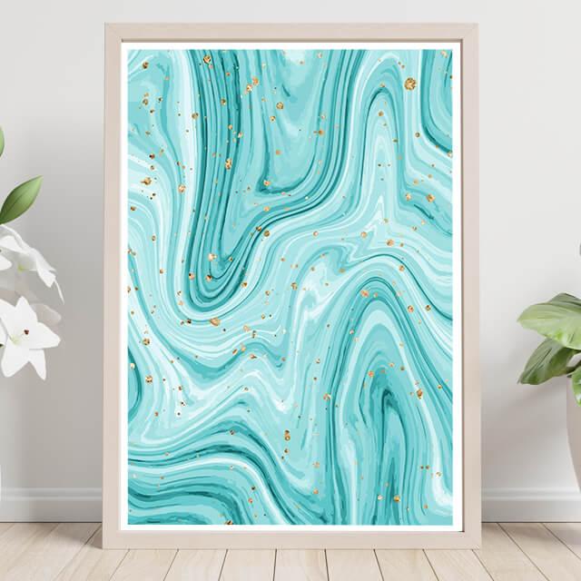 Aquamarine Marmoleado