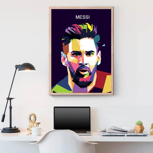 Ilustración de Lionel Messi
