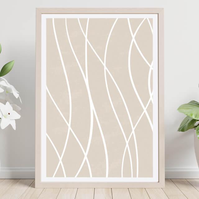 Líneas sobre lienzo