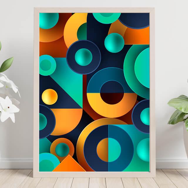 Abstract geometrics colors