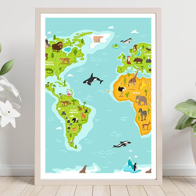 Mapa Mundi animales