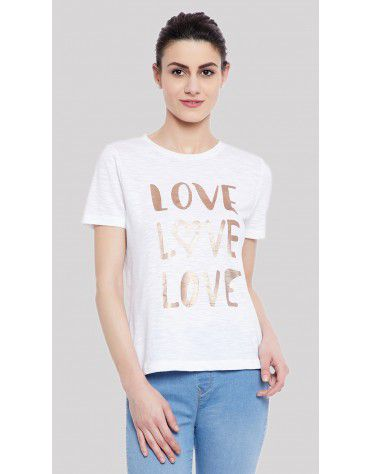 SbuyS  - Love Slogan Printed T-Shirt