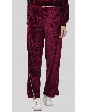 SbuyS - Side Slit Velvet Co-ords Trousers Set