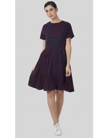 SbuyS - Stripe Midi Dress