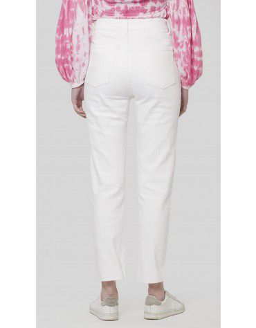 SbuyS - White Denim Cropped Jeans