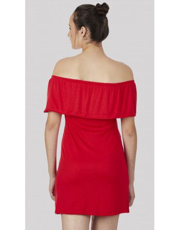 SbuyS - Red Off Shoulder Dress