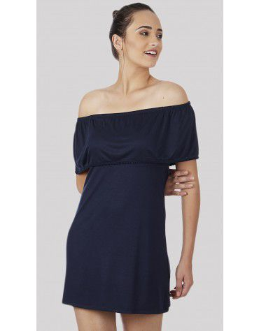 SbuyS - Blue Off Shoulder Dress
