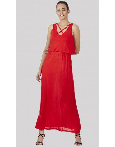 SbuyS - Criss Cross Maxi Dress