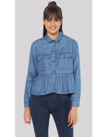 SbuyS - Denim Peplum Jacket