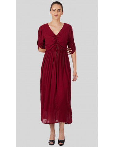SbuyS  - Ruched Maxi Dress