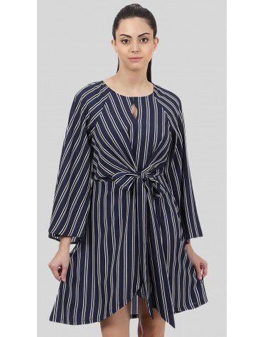 SbuyS - Front knot Striper Dress