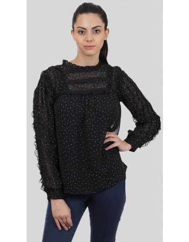 SbuyS - Polka Dot Ruffle Blouse