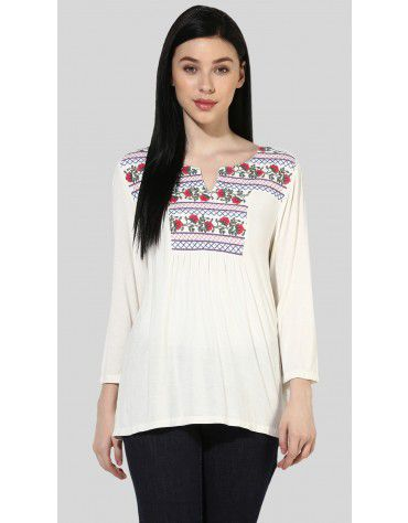 SbuyS -  Embroidered Peasant Top