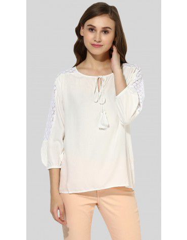 SbuyS - Lace Insert Blouse