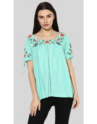 SbuyS - Square Neck Peasant Top