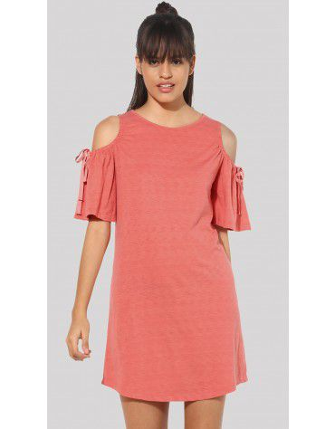 SbuyS  - Cold Shoulder Midi Dress
