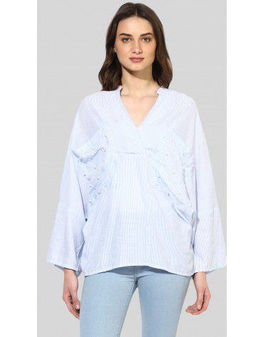 SbuyS  - Pearl Embellished Over Sized Shirt