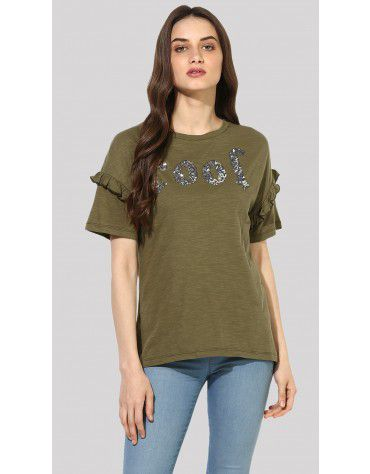 Sbuys - COOL Embellished T-Shirt