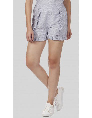 Sbuys - Ruffle Co-ords Shorts Set