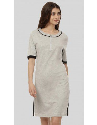 SbuyS  - Zip Front Midi Dress