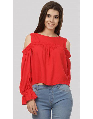 SbuyS - Cropped Cold Shoulder Top