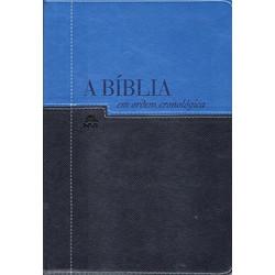 A Bíblia em Ordem Cronológica NVI - Azul Claro e Azul Escuro