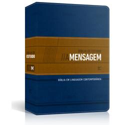 Bíblia de Estudo A Mensagem (Azul e Bege)