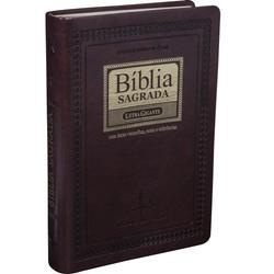 Bíblia Sagrada Revista e Corrigida com Letra Gigante (Marrom Nobre)