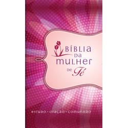Bíblia de Estudo da Mulher de Fé - Capa Luxo Margarida
