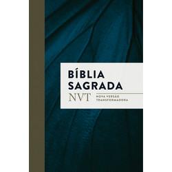 Bíblia NVT - Azul marinho (letra normal/brochura c/ orelhas)