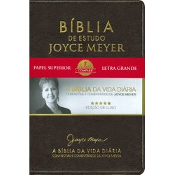Bíblia de Estudo Joyce Meyer (Café)