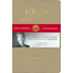 Bíblia de estudo Joyce Meyer (Dourada)