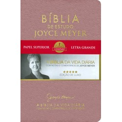 Bíblia de estudo Joyce Meyer (Rosa)