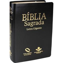 Bíblia Sagrada - NA (Capa Luxo Preta) Letra Gigante