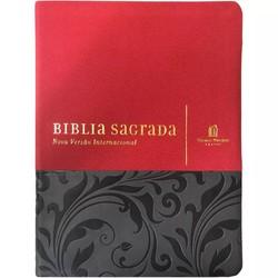 Bíblia NVI com espaço para anotações (Luxo Vermelho e Cinza)